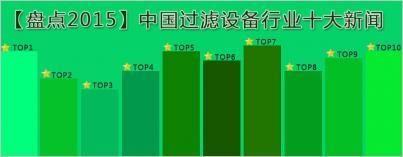 中国过滤设备行业十大新闻